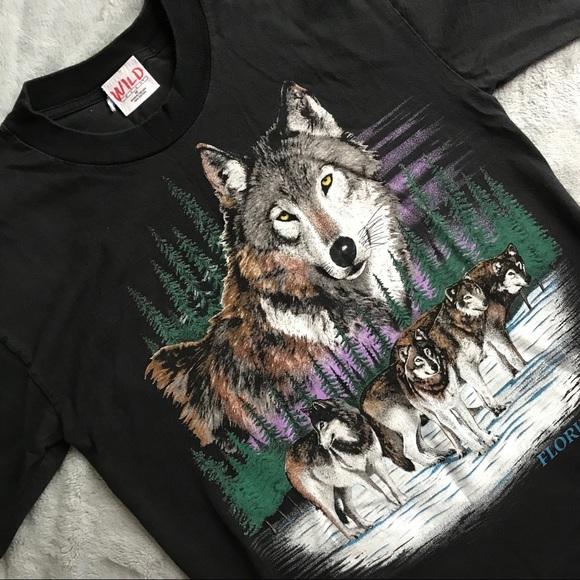 658807a3d Vintage Tops | Vtg Wolf Wildlife Florida Tshirt 90s Nature | Poshmark
